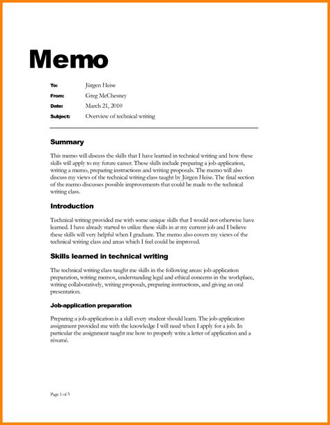 10 formal memo template resume pictures