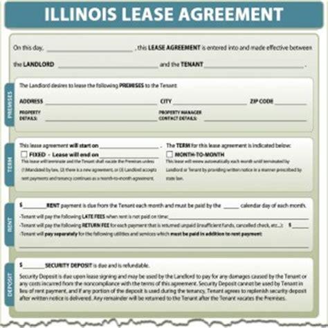 printable rental agreement illinois illinois lease agreement