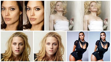 celeb before and after pics 18 shocking photos of celebrities before and after photoshop