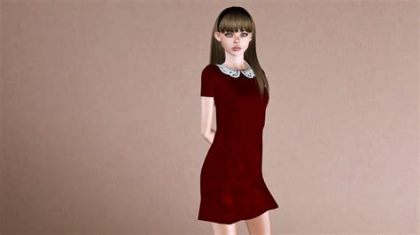 my sims 3 blog lace my sims 3 blog lace collared dress by plumb barb
