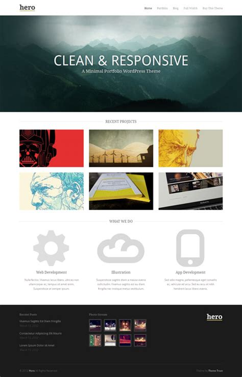 100 best responsive portfolio wordpress themes