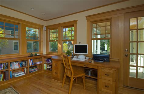 craftsman bookshelves craftsman style windows home office traditional with