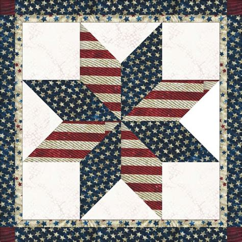 Patriotic Quilt Blocks by Usa Patriotic Lone 20 Quot Block Not Quilted Ebay