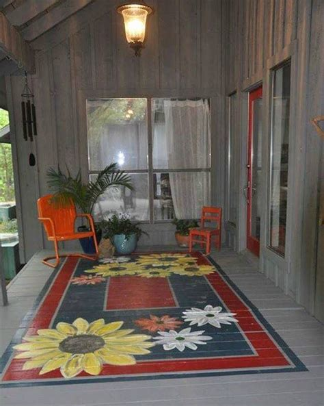 Rug Painted On Floor by From Kitchen April 2016 Home Painted