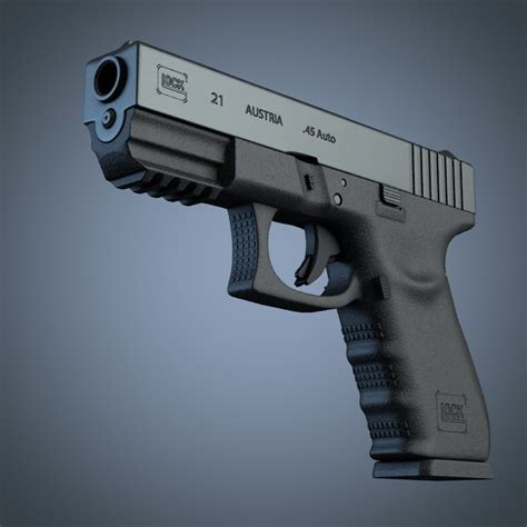 Cd Pistols glock 21 handgun 3d cd