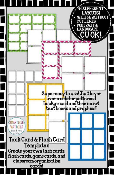 Math Task Card Templates by Task Card Flash Card Templates Commercial Use Ok