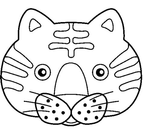 free coloring pages of m masks cat