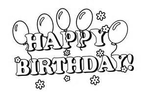 Happy birthday clipart black and white clipartsgram com