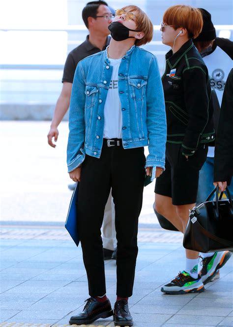 kim taehyung jung hoseok kim taehyung jung hoseok airport fashion bts in 2018