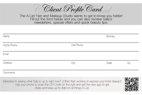 customer information card template client profile card by sarahcascadden on deviantart