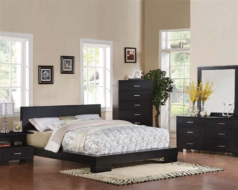 contemporary bedroom set black by acme furniture