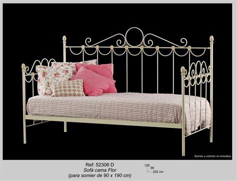 sofa cama forja sofa cama flor sin colch 243 n y somier su estilo en forja
