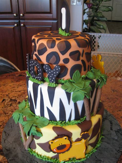 theme cake decorations jungle cakes decoration ideas birthday cakes