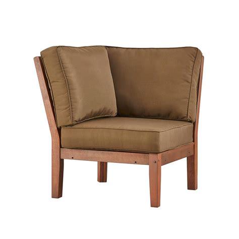 outdoor club chair hton bay park brown swivel rocking wicker