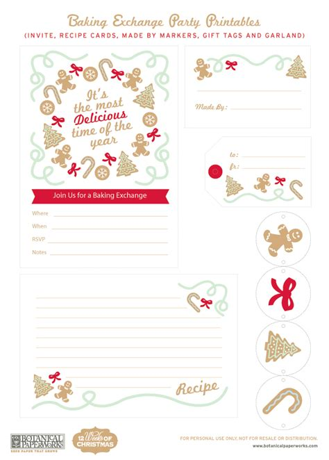 free printable holiday worksheets free christmas cookies free printable christmas baking exchange blog