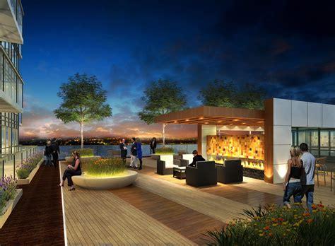 rooftop patios celsius condominiums condo landscape design richmond