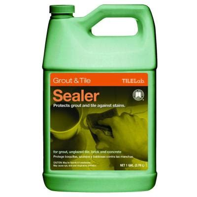 bathroom grout sealer custom building products tilelab 1 gal grout and tile