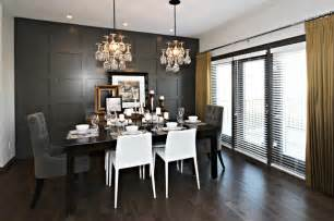 yellow and gray dining room contemporary dining room