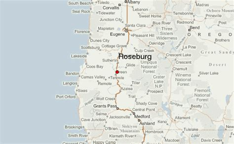 roseburg oregon map roseburg location guide