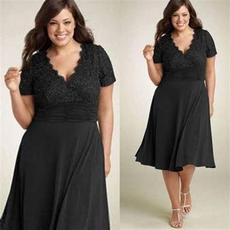 Promo Promo Termurah Dress Gucci V new 2015 cheap a line evening dresses black chiffon sleeves v neck with lace tea length