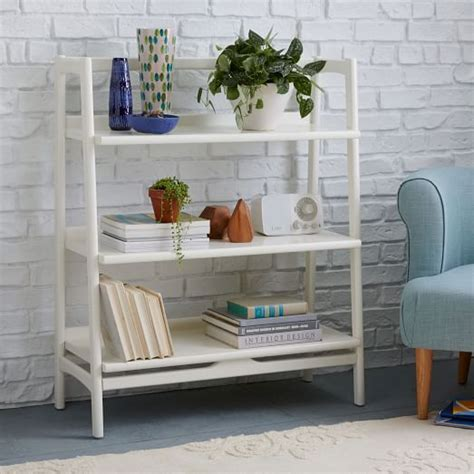 mid century low bookcase mid century bookshelf low wide west elm