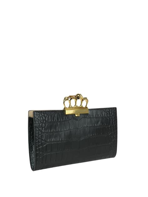 Clutch Alexanders Mcqueen skull four rings clutch by mcqueen clutches