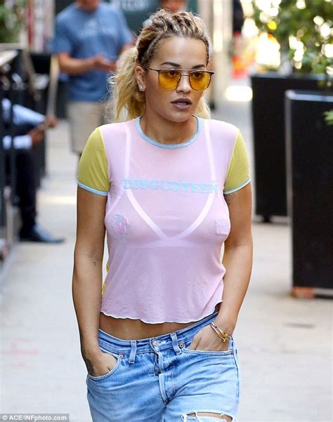 See Through Shirt ora flashes triangle bralet and pasties in a see