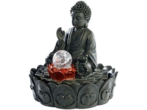 zimmerbrunnen baumarkt infactory beleuchteter zimmerbrunnen quot lotus buddha quot mit