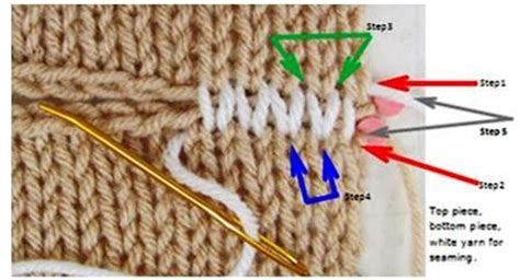 Horizontal Stockinette Stitch Invisible Seam Photo How