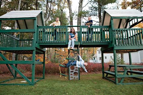 home swing sets home projects playhouse swing set fun with gabe pinterest