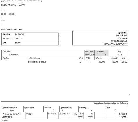 fattura carrozziere software programma officina meccanica carrozziere ebay
