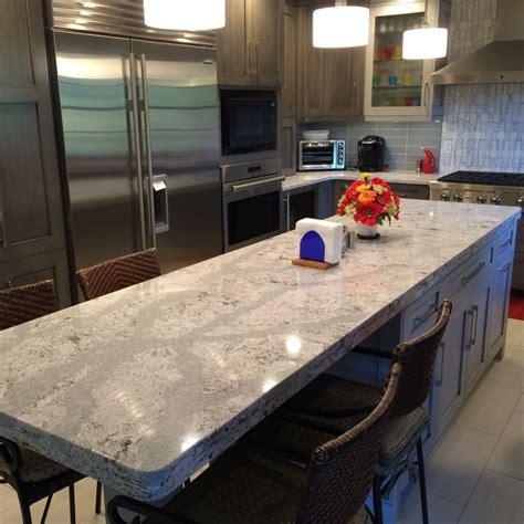 Kitchen Island With Stools Ikea Cambria Quartz Summerhill On Grey Cabinets