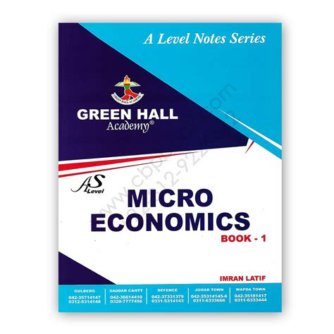 Best Economics Book For Mba by As Level Microeconomics Notes Book 1 By Imran Latif