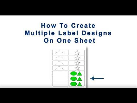 create multiple designs   sheet  maestro label designer youtube
