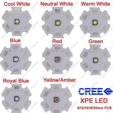 Emitter Led Cree Xpe Yellow aliexpress buy 10x 3w cree xpe xp e high power led emitter diode optional neutral white