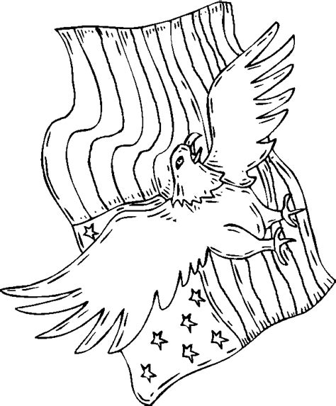 eagle flag coloring page american flag and eagle