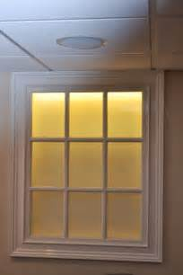 Faux Window by Back Lit Faux Basement Window Home Basement Pinterest