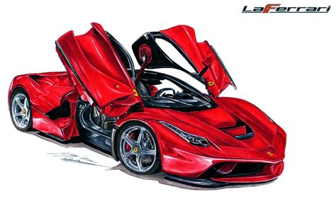 ferrari laferrari sketch ferrari laferrari drawing by toyonda on deviantart