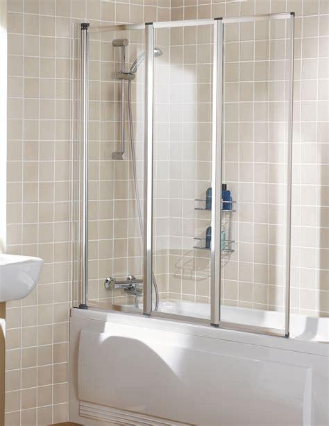 Bathroom Shower Screen Lakes Classic Framed Panel Bath Shower Screen 1390mm Silver