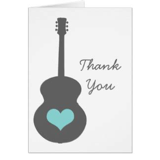 Thank You Letter To Guitar Guitar Thank You Note Cards Zazzle