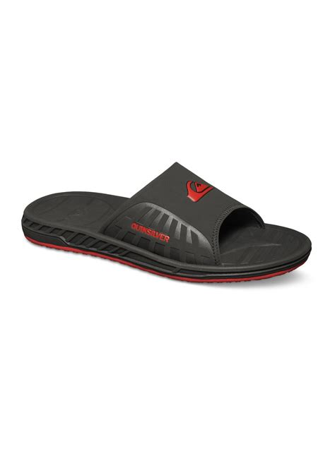 quiksilver sandals triton slide sandals aqyl100039 quiksilver