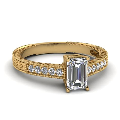 Wedding Rings Emerald Cut by Emerald Cut Gold Wedding Ring Fascinating Diamonds