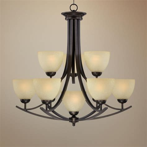 Entryway Chandelier Lighting Bronze 31 1 2 Quot Wide 10 Light Entryway Chandelier