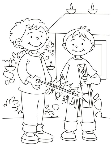 diwali coloring pages for kids coloring home