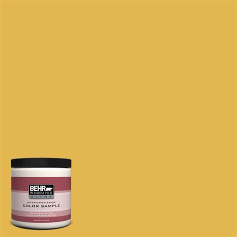 behr premium plus ultra 8 oz 360d 6 yellow gold interior exterior paint sle 360d 6u the