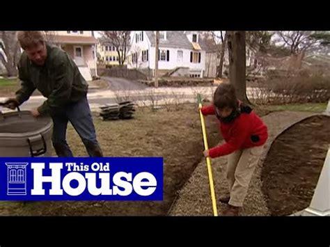 build  flagstone walkway   house youtube