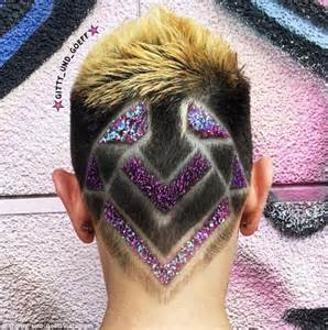 glitter hair tattoos are the latest trend sweeping