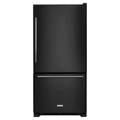 Kitchenaid Fridge Buzzing Kitchenaid 30 In W 19 Cu Ft Bottom Freezer Refrigerator