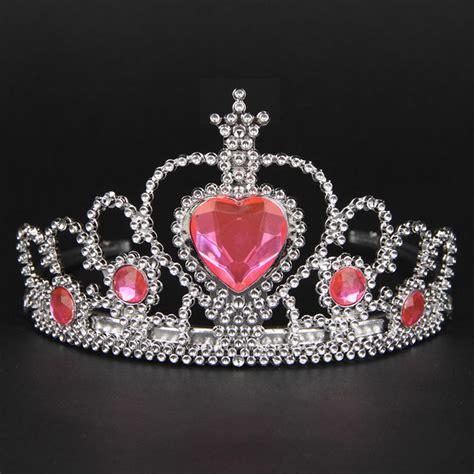 Set Mobil 3 In 1 Bordir Crown Pink Black lovely pink plastic hairband rhinestone princess crown headband birthday tiara children