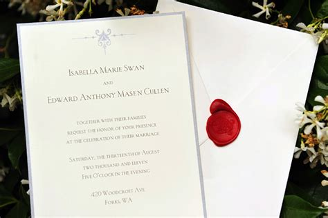 twilight wedding invitation card my hobby my hop twilight the saga